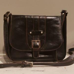 Etienne aigner leather crossbody bag.